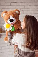 Мягкая игрушка плюшевый медвеженок с ромашкой 75