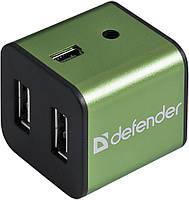 Универсальный USB разветвитель Defender Quadro Iron USB2.0, 4порта,корпус—алюминий