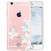 Чехол для iPhone 6/6S - Hoco Super star series (Swarovski diamond flower Lily)