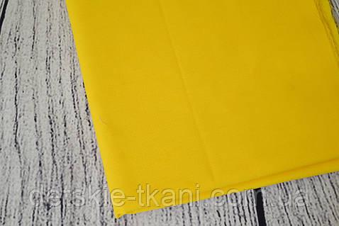 Лоскут ткани №35а тёмно-жёлтого цвет.