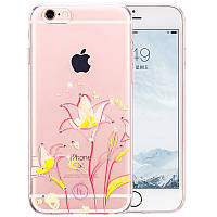 Чехол для iPhone 6/6S - Hoco Super star series (Swarovski diamond flower Goldband Lily)