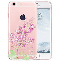 Чехол для iPhone 6/6S - Hoco Super star series (Swarovski diamond flower Lilac)