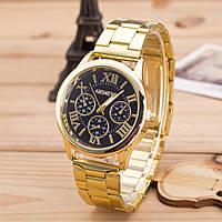 Женские часы Geneva Gold Classic black