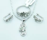 Женские серьги, кольцо и кулон оптом. Бижутерия оптом недорого. 234