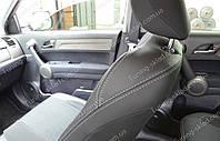 Чехлы на сиденья Хонда СРВ 3 (чехлы из экокожи Honda CR-V 3 стиль Premium)