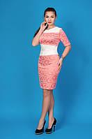 Красивое платье с кожаными вставками