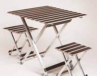 Складной стол и стулья ALUWOOD