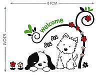 Декоративная наклейка Собачки