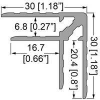 Профіль 0153. Подвійний куточок . Кейсмейкер для панелей 6,8 мм. 30мм х 30мм з товщиною стінки 1,5 мм