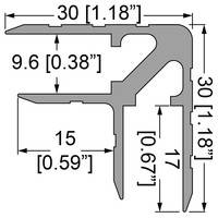 Профиль 0170. Двойной уголок . Кейсмейкер для панелей 9,5 мм. 30мм х 30мм с толщиной стенки 1,5 мм.