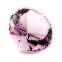 Кристалл розовый, диаметр 8 см