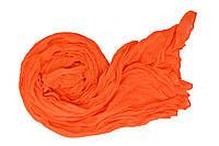 Шарф Косичка однотонный ярко-оранжевый