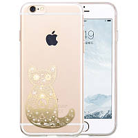 Чехол для iPhone 6/6S Plus - Hoco Super star series (Swarovski Diamond Cat)