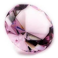 Кристалл розовый, диаметр 10 см