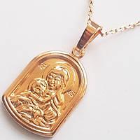 """Подвеска """"Дева Мария"""", ювелирная бижутерия Xuping, покрытие: золото 18К."""