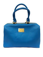 Женская сумка-саквояж Dolce Gabbana 140 голубая под формат А4 из кожзама