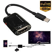 Конвертер usb тип C hdmi 1080P USB 3.1 Type C  to HDMI HDTV  Nokia N1, Chromebook, MSI , Asus