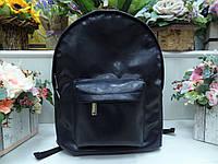 Дизайнерский иссиня-черный глянцевый рюкзак