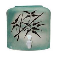 Диспенсер керамический «Бамбук зеленый»