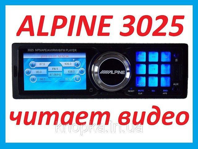 Автомагнітола Alpine 3025 (LCD 3'★USB★SD★FM★AUX★ГАРАНТІЯ★ПУЛЬТ)