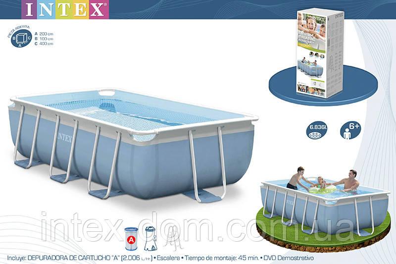 Каркасный бассейн Intex Prism Frame Pool 400x200x100 28316/54182/28350