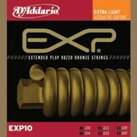 Струны D`ADDARIO EXP10 EXP 80/20 BRONZE EXTRA LIGHT 10-47