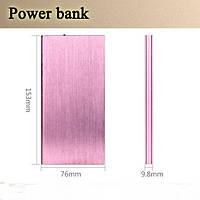 Power Bank Ultra Slim  8000mAh+LED. Розовый.
