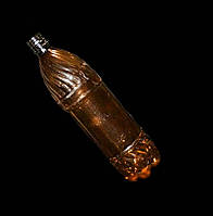 ПЭТ бутылка 1 литр цвет коричневый  Днепротара