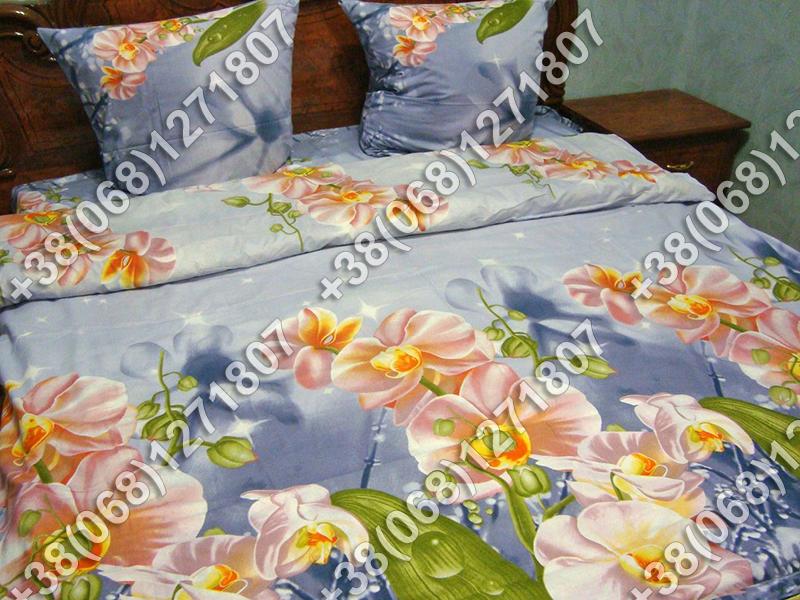 Постельное белье ранфорс - двуспальный комплект (0677)