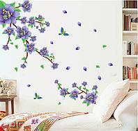 Декоративная наклейка на стену Сиреневые Цветы