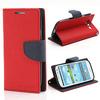 Чехол книжка для Samsung Galaxy S3 i9300i Duos боковой, Mercury GOOSPERY Fancy Diary, красный