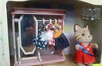 Детский игровой набор Sylvanian Families Кошечка с мебелью  (одежда в шкафу)