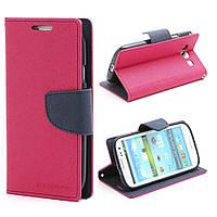 Чехол книжка для Samsung Galaxy S3 i9300i Duos боковой, Mercury GOOSPERY Fancy Diary, малиновый