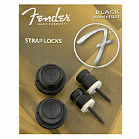 Стреплоки FENDER STRAP LOCKS BLACK PAIR FSLB1