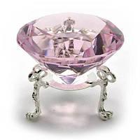 Кристалл розовый на подставке, диаметр 6 см