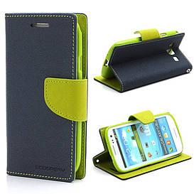 Чехол книжка для Samsung Galaxy S3 i9300i Duos боковой, Mercury GOOSPERY Fancy Diary, синий