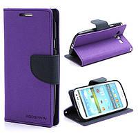 Чехол книжка для Samsung Galaxy S3 i9300i Duos боковой, Mercury GOOSPERY Fancy Diary, фиолетовый