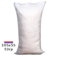 Мешки полипропиленовые упаковочные новые 105х55см 53гр на 50кг (к/с полоса) ЭКОНОМ