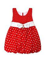 Платье для девочки 3-8 лет в горошек