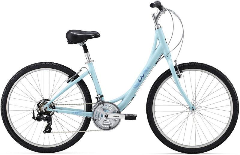 Городской женский велосипед Giant Sedona W голубой XS/14 (GT)