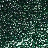 Бисер Preciosa Чехия №50150 1г, зеленый-темный, прозрачный