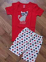Летняя пижама для девочки, хлопок, Gymboree