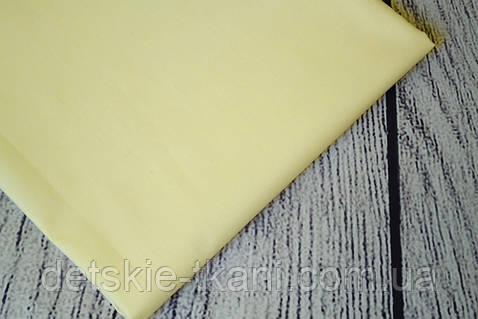 Лоскут ткани №34а ткань кремовая однотонная