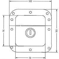 Замок 2230 з ключем сталевий оцинкований врізний 102*105мм