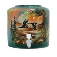 Диспенсер керамический «Птицы зеленые»