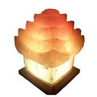 """Соляная лампа """"Китайский домик """"5-6 кг с цветной лампочкой"""
