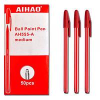 """Ручка шарик  Aihao 555А """"полосатая"""" Aihao (черв)"""