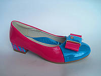 Туфли на девочку, кожаная стелька, есть супинатор р. 34 - 21,3 см