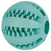 Trixie  TX-3259 DENTAfun мяч бейсбольный с мятой(резина) 5см