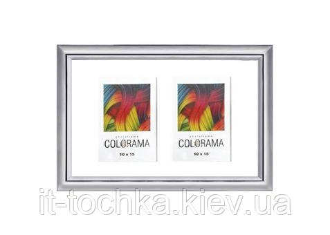 Мульти фоторамка la colorama la- 10x15x2 77 silver collage